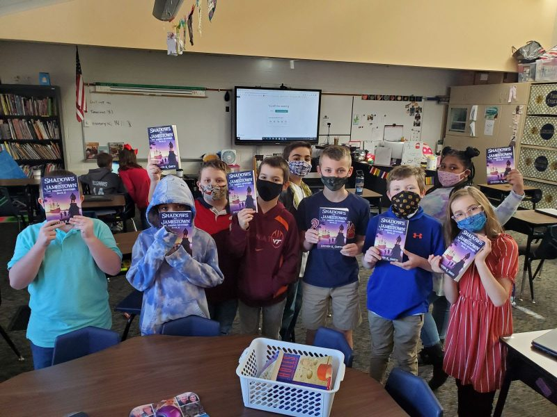 Jamestown mystery author holds virtual meet with Belle Heth students